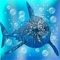 怒ったサメの亀裂画面