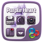Purple Heart GO Launcher Theme
